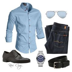 Masculinity by keri-cruz on Polyvore featuring Ray-Ban, 7 For All Mankind, Ermenegildo Zegna, Polo Ralph Lauren and Michael Kors