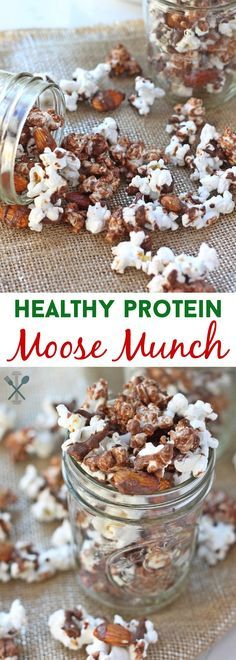 A healthy take on a holiday classic - this protein-packed moose munch is so easy to make, and perfect to snack on without the guilt #sponsored