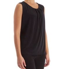 Grayson Brand Black Top Size M New without tags. Grayson brand black  sleeveless pleated-neck top size medium. Keyhole button back.   95% Polyester, 5% Spandex.   This top is the perfect basic for your stylish wardrobe. The soft top boasts a sleek, pleated neckline & a sleeveless finish that's perfect for layering with your favorite blazer or cardigan!   Definitely can share more photos.   Thanks for browsing! Grayson Tops