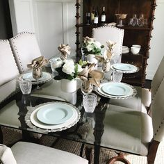 Table is set and ready for Friday night family dinner! Virginia, Table Settings, New Homes, Sweet Home, Dining Room, Friday, Dinner, Night, Instagram Posts
