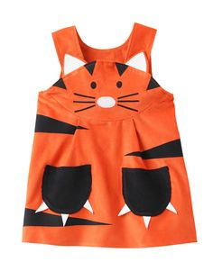 Tiger- toddler character play dress-up for girls in orange cord. Lions Tigers & Bears- oh my! A brand new endangered creature from Wild