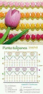 Punto tulipanes