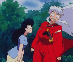Kagome showing Inuyasha who's boss haha