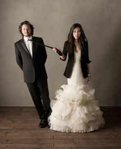 love this jacket + wedding dress combo