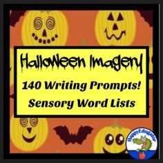 Halloween Writing imagery sheet and sensory word lists for reference. Students can use these lists to help them write spooky Halloween stories with imagery and more description. Great packet to put in a writing center or print them out for their writing notebooks or folders. First page explains how...