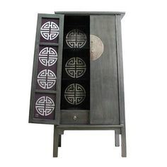 grey chinese cabinet