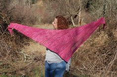 Hephzibah Shawl by Janine McCarty | malabrigo Rios in English Rose
