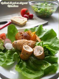 Rulouri de pui cu ciuperci Romanian Food, I Foods, Delish, Meat, Chicken, Cubs
