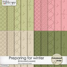 Preparing for winter Embossed papers by PrelestnayaP Design