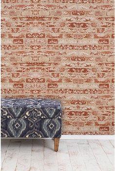 UrbanOutfitters.com > Brick Trompe L'oeil Wallpaper
