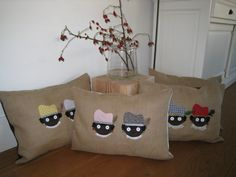 Burlap Pillows, Throw Pillows, Saints For Kids, Crafts For Kids, Arts And Crafts, Big Bags, Children's Place, Good Old, Small Gifts