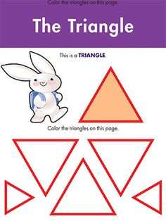 Printable Shapes Worksheets: Color a Triangle (via Parents.com)