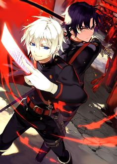 Owari no Seraph, Guren and Shinya I should probably at least look into what this anime is about...