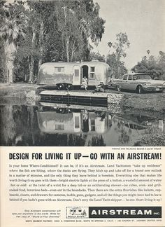 airstream - the only thing you leave behind is boredom. Airstream Campers, Airstream Remodel, Vintage Airstream, Vintage Caravans, Vintage Campers, Retro Trailers, Vintage Travel Trailers, Camper Trailers, Towing Vehicle