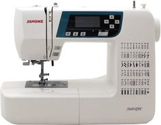 Janome Computerized Sewing Machine (New 2020 Tan Color) w/Hard Cover + Extension Table + Quilt Kit + Seam Foot w/Guide + Overedge Foot + Zig Zag Foot + Buttonhole Foot + More! Sewing Machine Brands, Sewing Machine Quilting, Sewing Machine Reviews, Sewing Stitches, Sewing Stores, Sewing Machines, Sewing Patterns, Extension Table, Janome