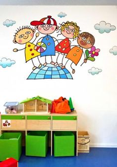 Polyart - Dětské nástěnné dekorace, výzdoba, malba, dětské pokoje, mateřské školy - interiéry, obrazy a dekorace Wall Murals, Montessori, Kids Rugs, Home Decor, Wallpaper Murals, Decoration Home, Kid Friendly Rugs, Room Decor, Interior Design