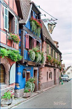 Les façades d'Alsace #travel #photography #places #views #scenery #vacation #holiday #socialmedia #training