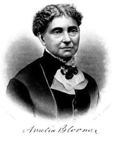 """The term bloomer comes from Amelia Bloomer, a prominent American women's rights activist. Born in 1818, she became one of the faces for the women's rights movement of the 19th century along with women like Elizabeth Cady Stanton. Bloomer was well known for founding the outspoken suffragette magazine The Lily in 1849.  There has been a great cry raised by the gentlemen from all quarters""""  -Amelia Bloomer, """"Mrs. Kemble and Her New Costume"""" Excerpt from The Lily"""