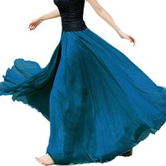 Women Retro Pure Color Summer Chiffon Long Maxi Full Boho Half Dress Skirt (Sapphire blue) Coxeer http://www.amazon.com/dp/B00UOKXLZM/ref=cm_sw_r_pi_dp_-S1fvb07V53HZ