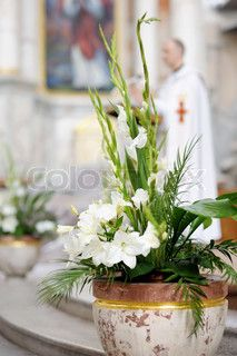 Church Floral idea for Easter Sunday