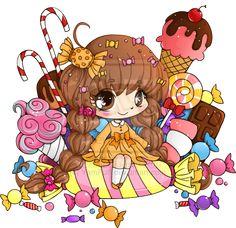 Candy-Box Chibi Commission by YamPuff.deviantart.com on @deviantART