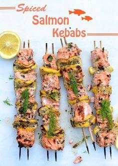 Salmon Kebabs -- need we say more!?