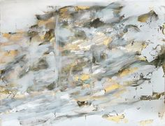 Stormcloud, and gilded metal leaf on Winter Weather Forecast, Metallic Paint, Leaves, Oil, Abstract, Canvas, Artwork, Painting, Summary