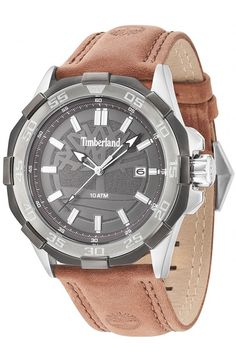 Timberland - Mens Paugus Brown Leather Strap Watch - - RRP - Our Price 1c6b120a73a
