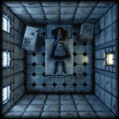 f npc Insane padded room story med Alice Madness Returns, Arte Horror, Horror Art, Dark Fantasy Art, Dark Art, Go Ask Alice, Alice Liddell, Were All Mad Here, Lewis Carroll