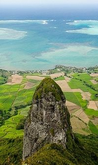 "Summit of ""Bambous Mountain"" 