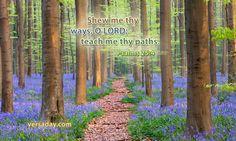 Psalms 25:4 - Verse for September 1