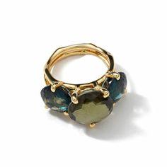 #Ippolita 18K #Gold #RockCandyGelato3Stone #Ring in #Tartansette #BeGlamWithGold