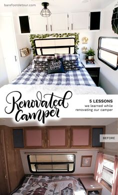 5 Things we learned while renovating our RV in one month, check out all the things we did wrong and right! Rv Camping, Glamping, Camping Ideas, Camping Hacks, Camping Outdoors, Camping Kitchen, Camping Cooking, Family Camping, Outdoor Camping