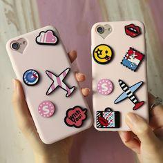 KISSCASS Case 3D Patch Phone Cases