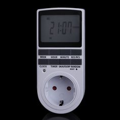 Plug Portable Plug-in Digital Timer 24h 7day Week with LCD Display for Indoor Appliance Lights/TV/PC/Fans/Kitchen
