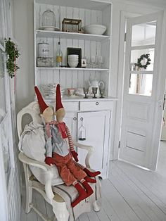 Nisser, Danish Christmas - Father Christmas' helpers... (these are by the Danish company  Maileg)