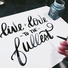 live & love // #handwrittenbycassi #letteritoctober #handlettering #brushlettering #moderncalligraphy #calligraphy #typography #thedailytype #thatsdarling #hwbc