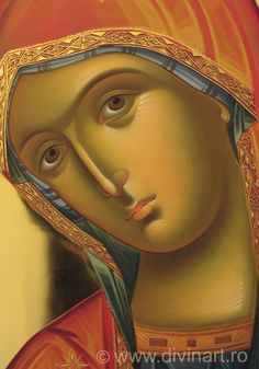 Religious Pictures, Religious Icons, Religious Art, Spiritual Paintings, Paint Icon, Lady Madonna, Religion Catolica, Russian Icons, Blessed Mother Mary