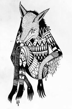 Native American Coyote Tattoo coyotes american gods and indian tribes . Native American Mythology, Native American Art, Coyote Drawing, Coyote Tattoo, Trickster Tales, Father Daughter Tattoos, Indian Tribes, Tattoo Illustration, American Gods