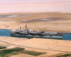 USS America in the Suez Canal...I did this 14 hr trip 5 times.