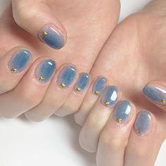 Nageldesign – Nail Art – Nagellack – Nail Polish – Nailart – Nails – Nagel – Beauty – Make UP baby blue clouds nail art manicure Muted tone sparkly star nails / IG & YT Brit G Nageldesign Nail Art Nagellack Nail Polish Nailart Nails Cute Nails, Pretty Nails, Hair And Nails, My Nails, Prom Nails, Sparkly Nails, Nail Art Designs, Nail Design Glitter, Nagel Hacks