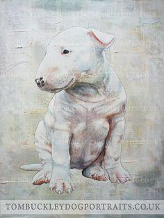 Bull Terrier Puppy Dog Portrait 1 by bukkerz.deviantart.com on @deviantART