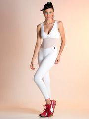 Macacão fitness branco Suzi