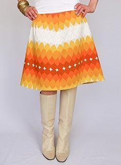 Vintage 60s mini skirt  at www.secondhandnew.nl