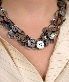 Button necklace- I'd like some stretchy bracelets please!
