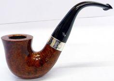 Peterson Sherlock Holmes Original Smooth Finish Silver Mounted Pipe.