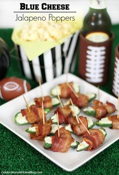 Game day appetizer: Jalapeno Poppers with Blue Cheese