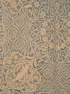 Italian Lace Tablecloth, Early 20th C.