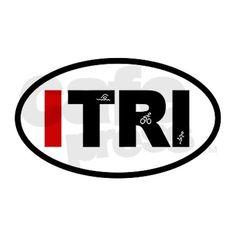 Triathlon ITRI Oval Decal on CafePress.com