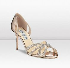Jimmy Choo Bauble Nude Suede Dorsay Sandal With Hotfix Crystals and Gold Mirror Leather Shoe Boots, Shoes Sandals, Dress Shoes, Wedding Pumps, Pretty Shoes, Beautiful Shoes, Jimmy Choo Shoes, Bridal Shoes, Bridal Gown